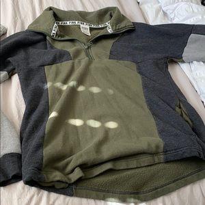 green PINK quarter zip jacket
